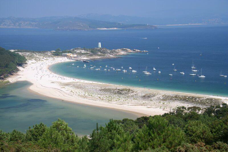 Вид на острова Сиес