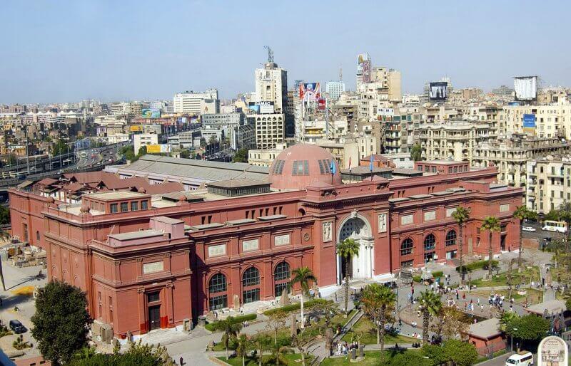 Вид сверху на Каирский музей