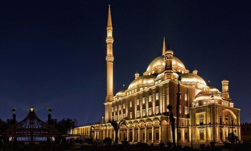 Мечеть Мухаммеда Али вечером