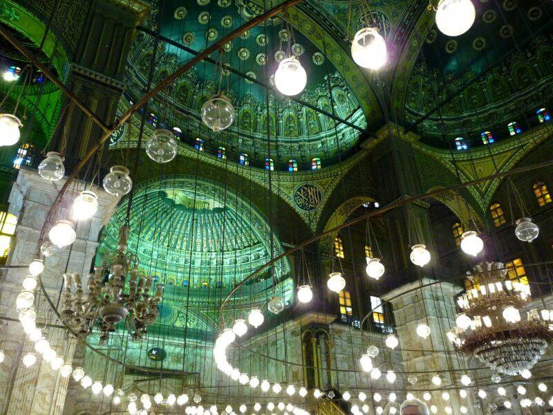 Потолок в мечети Мухаммеда Али
