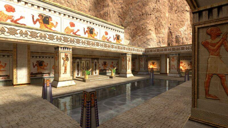 Макет храма Хатшепсут