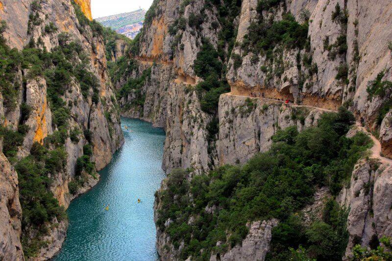 Ущелье Монт Ребей в Каталонии