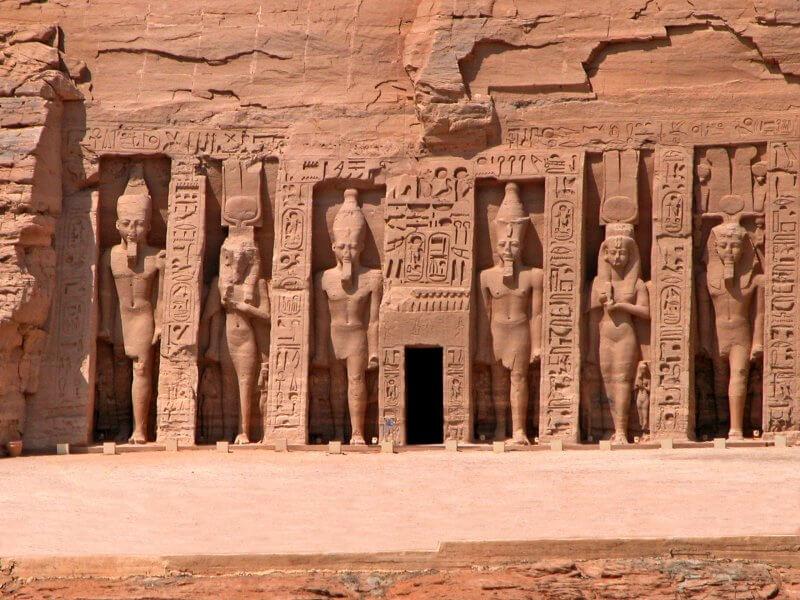 Вход в храм Абу-Симбел