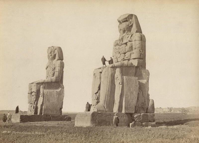 Старое фото Колоссов Мемнона