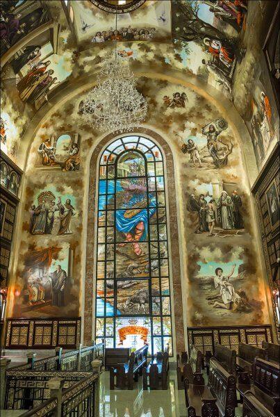 Коптская церковь внутри