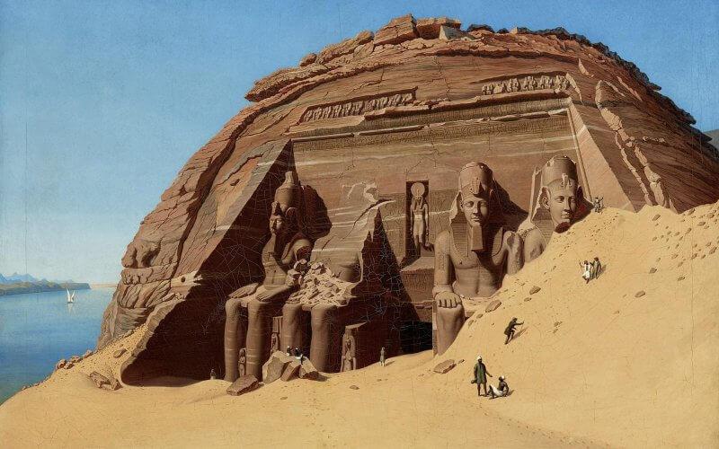 Рисунок храма Абу-Симбел