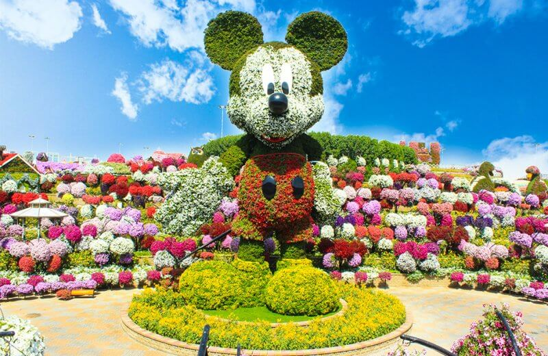 Цветочный Mickey Mouse