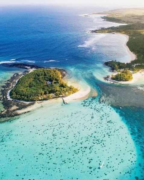 Кокосовый остров, вид сверху