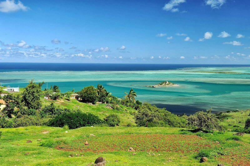 Пейзаж острова Родригес