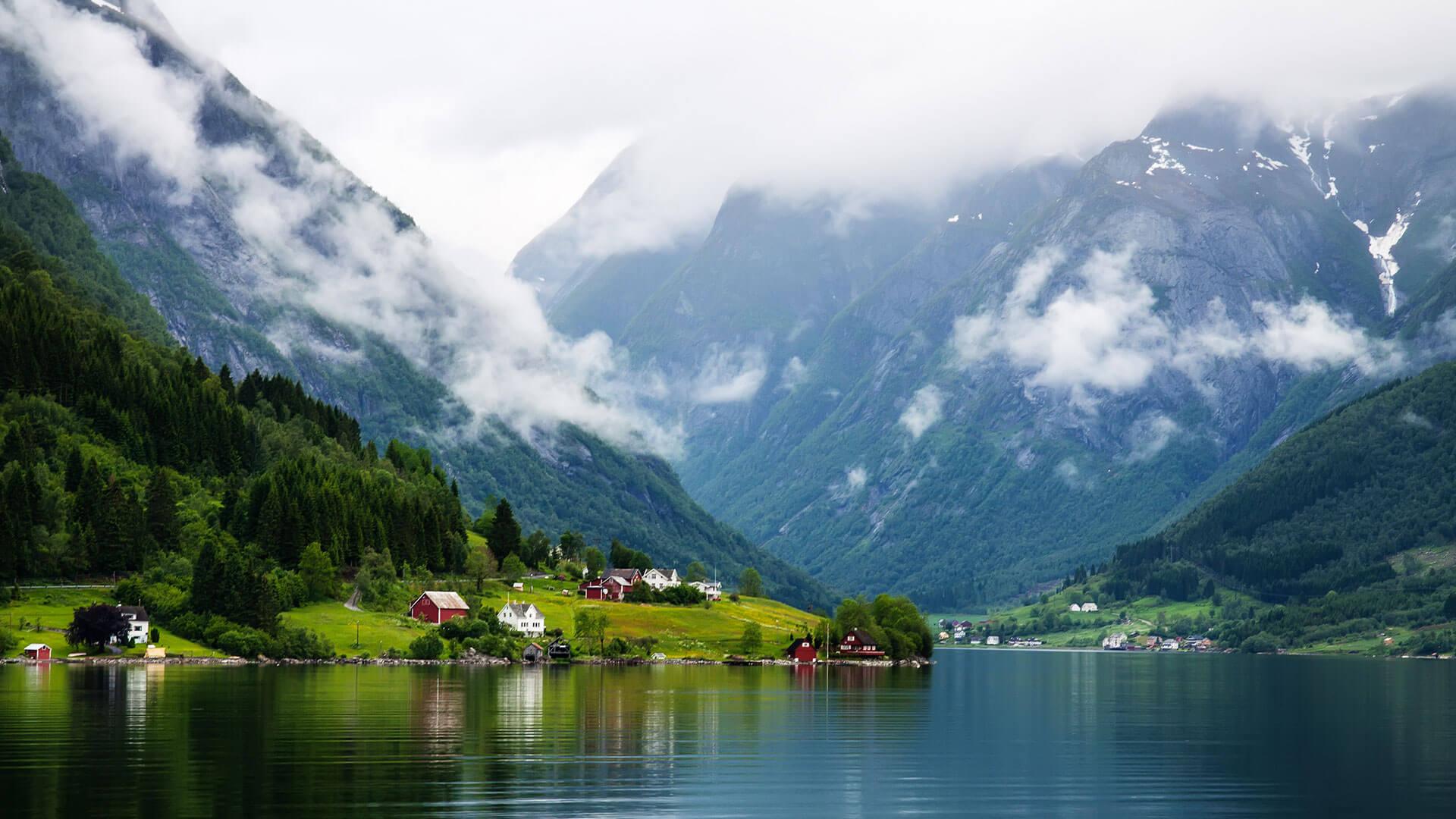 Скандинавские пейзажи обои на рабочий стол